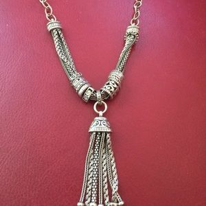 Silpada sterling silver gathered tassel necklace